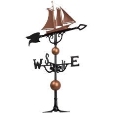 "46"" Yacht Weathervane, Copper"