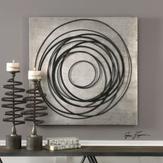 Uttermost Whirlwind Iron Coils Wall Art