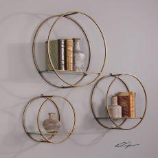 Uttermost Ellison Drum Cage Shelves S/3