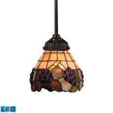 Mix-N-Match 1 Light Led Pendant In Vintage Antique And Stained Glass