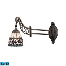 Mix-N-Match 1 Light Led Swingarm In Tiffany Bronze