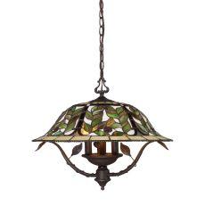 Latham 3 Light Chandelier In Tiffany Bronze