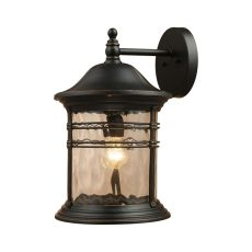 Madison 1 Light Outdoor Wall Sconce In Matte Black