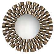 Uttermost Taurion Silver Leaf Round Mirror