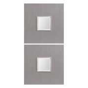 Uttermost Scotten Light Gray Square Mirrors S/2