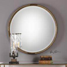 Uttermost Finnick Iron Coil Round Mirror