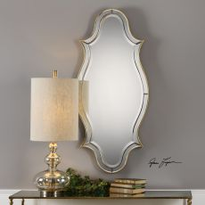 Donatella Curved Sided Gold Mirror