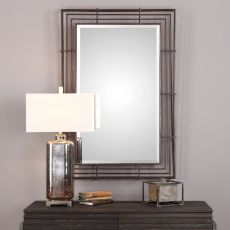Perlo Rust Bronze Mirror