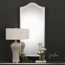 Cecita Metallic Silver Mirror