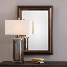 Stuart Rubbed Bronze Mirror