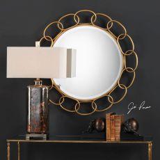 Circulus Gold Round Mirror