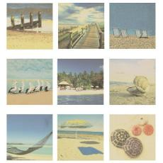Beach Scenes Giclee Art Set of 9