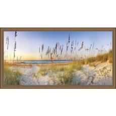 Along The Strand Giclee Print in Wood Frame