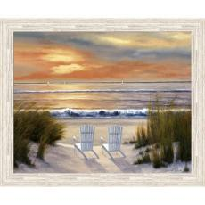Paradise Sunset High Quality Giclee Print Wood Frame