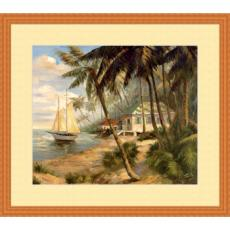 Key West Hideaway High Quality Giclee Print Wood Frame