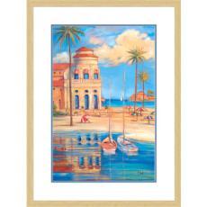 BEACH CLUB I Giclee Print in Wood Frame