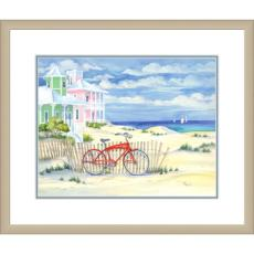Beach Cruiser I Giclee Print in Wood Frame