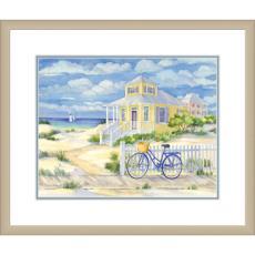 Beach Cruiser II Giclee Print in Wood Frame