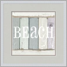 Beach Sign IV Giclee Print in Wood Frame