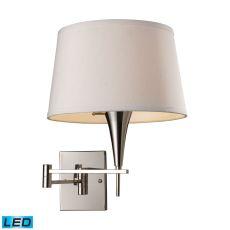 Swingarms 1 Light Led Swingarm Sconce In Polished Chrome
