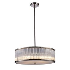 Braxton 5 Light Pendant In Polished Nickel