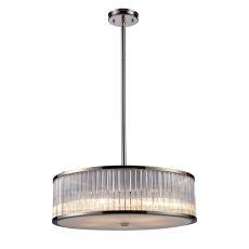 Braxton 5 Light Pendant In Polished Nickel