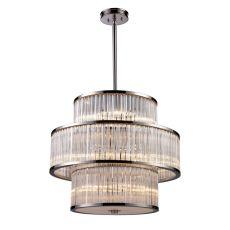 Braxton 15 Light Pendant In Polished Nickel