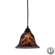 Firestorm 1 Light Pendant In Dark Rust - Includes Recessed Lighting Kit