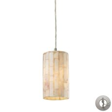 Coletta 1 Light Pendant In Satin Nickel And Genuine Stone - Includes Recessed Lighting Kit
