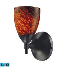 Celina 1 Light Led Sconce In Dark Rust And Espresso
