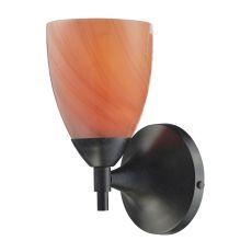 Celina 1 Light Sconce In Dark Rust And Sandy Glass