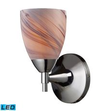 Celina 1 Light Led Sconce In Polished Chromew And Creme Glass