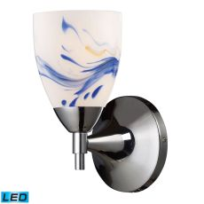 Celina 1 Light Led Sconce In Polished Chrome And Mountain
