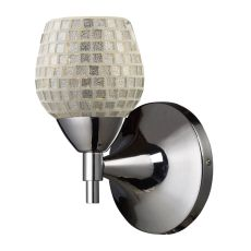 Celina 1 Light Sconce In Polished Chrome And Silver Glass