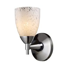 Celina 1 Light Sconce In Polished Chrome And Snow White