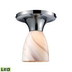 Celina 1 Light Led Semi Flush In Polished Chrome And Creme Glass