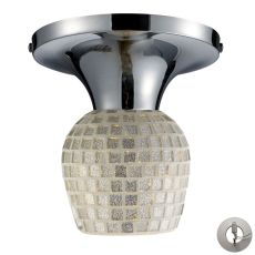 Celina 1 Light Semi Flush In Polished Chrome And Silver - Includes Recessed Lighting Kit