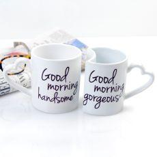 10 Oz. Good Morning Coffee Mugs (Set Of 2)