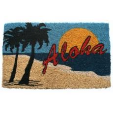 Aloha Beach Hand Woven Coconut Fiber Doormat