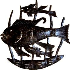 Fish Family Sculpture