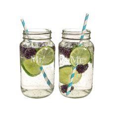 Mr. & Mr. 26Oz. Mason Jar Set