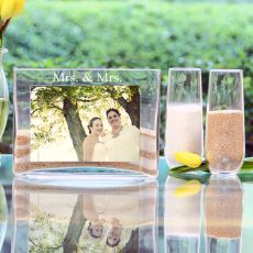 Mrs. & Mrs. Sand Ceremony Photo Vase Unity Set