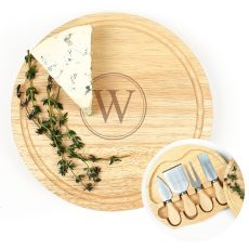 Personalized Gourmet 5Pc. Cheese Board Set W/ Utensils