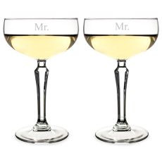 Mr. & Mr. Champagne Coupe Flutes