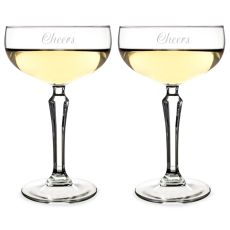 8.25 Oz. Cheers Champagne Coupe Flutes