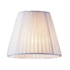 Renaissance Mini Shade In White Pleated Fabric