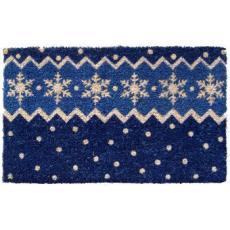Snow Pattern Hand Woven Coconut Fiber Doormat