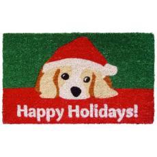 Dog Lovers' Holiday Hand Woven Coconut Fiber Doormat
