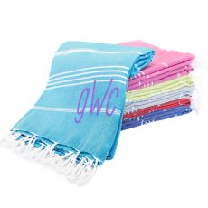 Dark Pink Personalized Turkish Towel