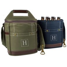 Navy Craft Beer 6 Pack Bottle Cooler